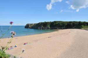 Golden sands at beautiful Barafundle bay.