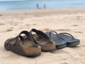 Sandles on the beach